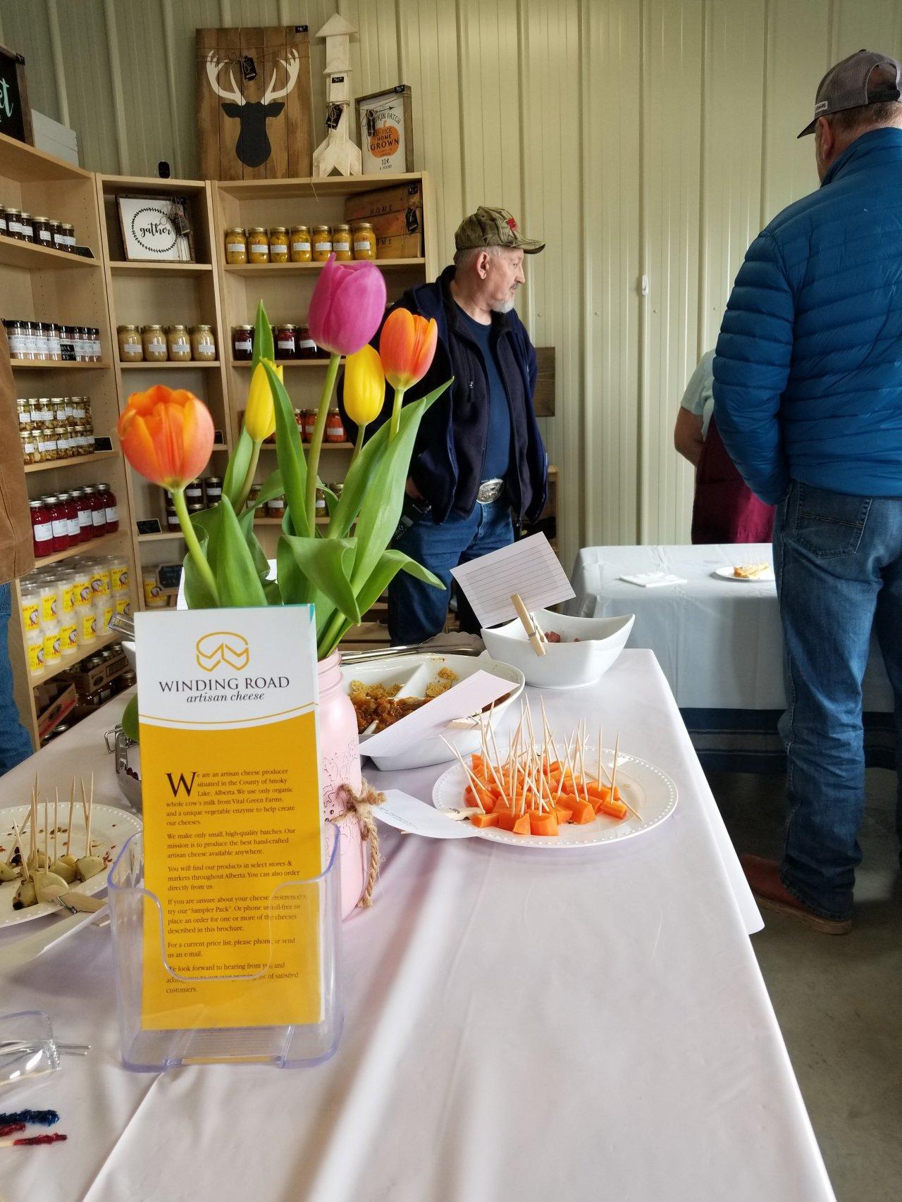 Serben Farms Store sampling day