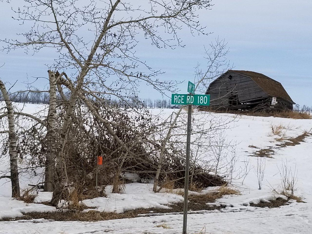 Alberta rural road.