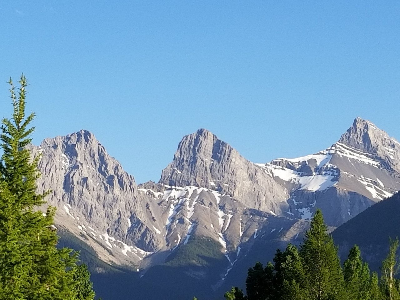 Three Sisters Mountains in Canmore