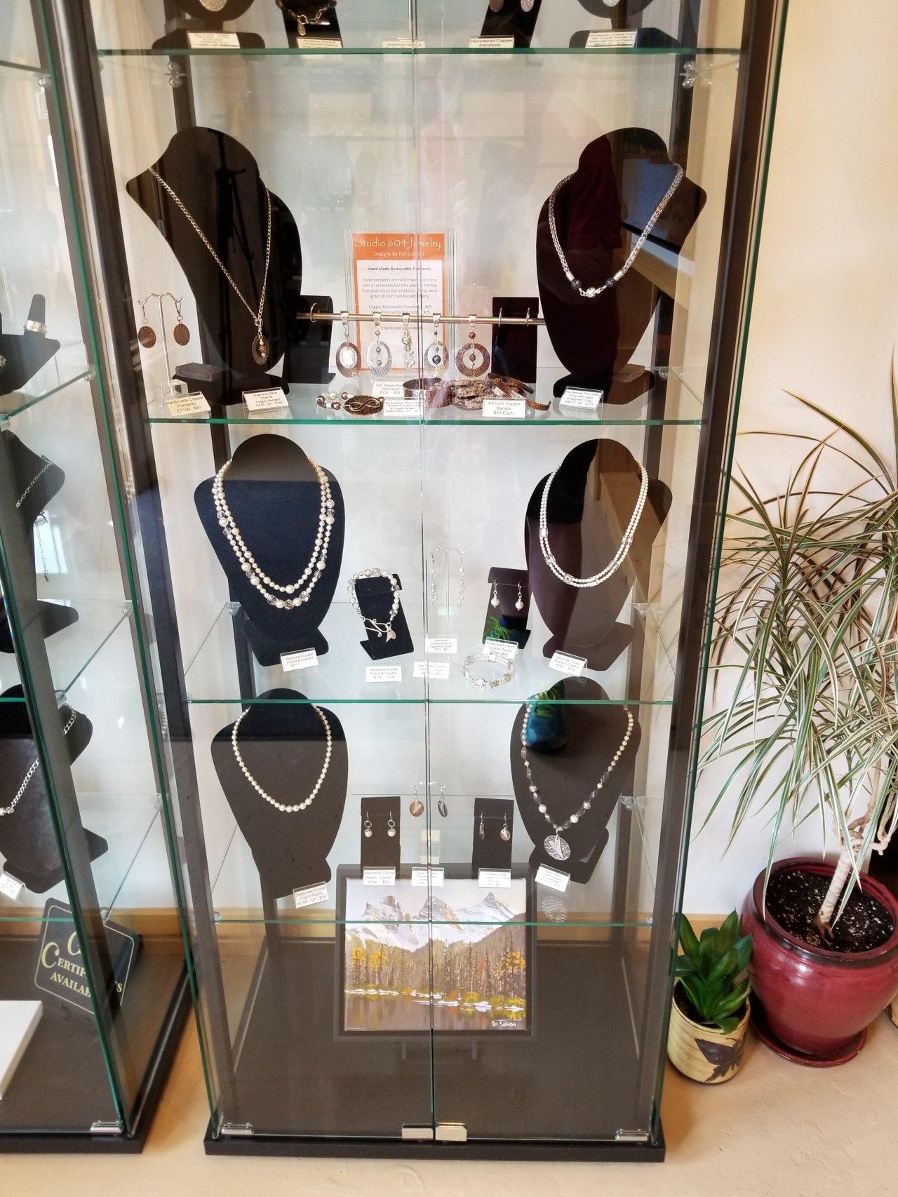 Pat Sullivan's silver jewelry; Studio 604